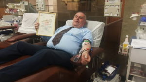 Shimon Redlich and the blood donation 100
