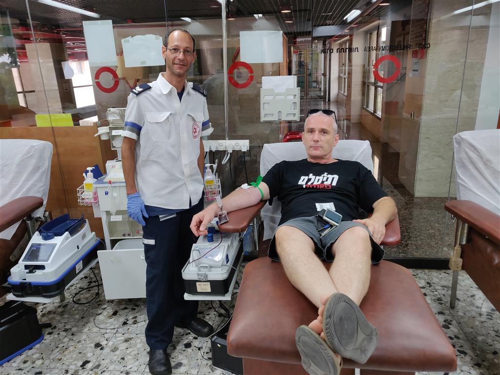 Donneurs de sang à la banque de sang chez Tel Hashomer - 3 / 8 / 2018