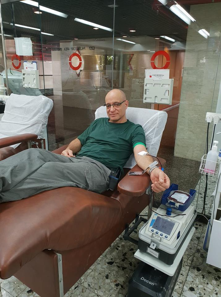 Dror Ben Yehuda a fait don de 21 / 2 / 2019 à la banque de sang MDA de Tel Hashomer