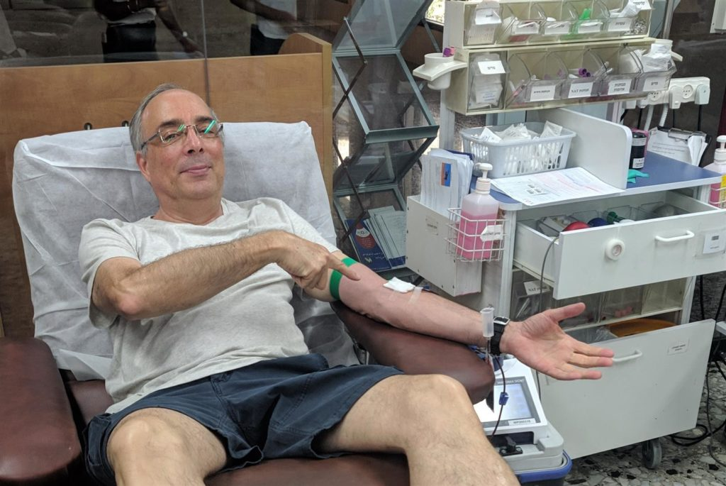 Udi Borg - Member of the management of a volunteer blood donation organization