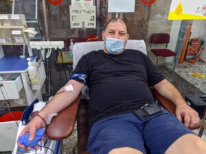 Kfir Giller - Donated on the eve of Yom Kippur, 27/9/2020 at the MDA Blood Services Center in Tel Hashomer