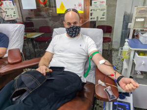 Michael Sprung - Donated on the eve of Yom Kippur, 27/9/2020 at the MDA Blood Services Center in Tel Hashomer