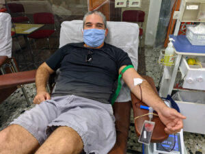 Omar Eshel - donated on the eve of Yom Kippur, 27/9/2020 at the MDA Blood Services Center in Tel Hashomer