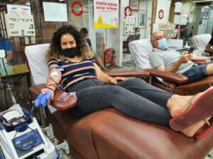 Marciano Foundation - Donated on the eve of Yom Kippur, 27/9/2020 at the MDA Blood Services Center in Tel Hashomer