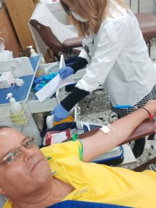 """יוסי עצמון תרם דם ב-3/1/2021 במרכז שירותי הדם של מד""""א בתל השומר"""
