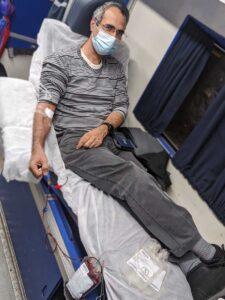 איציק צרפתי תרם דם בחצור הגלילית ב- 04/02/2021