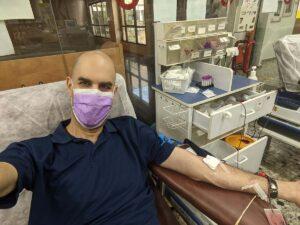 """ערן לוטן, תרם דם המרכז שירותי הדם של מד""""א בתה""""ש ב- 17/8/2021"""